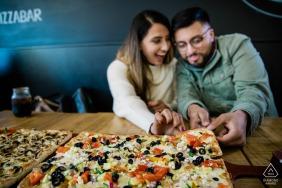 Ontario Hamilton engagement shot from First Date pizza restaurant