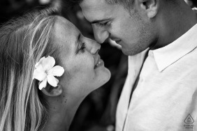 Zakynthos, Greece	engagement photographer | Looks of love - black and white portraits