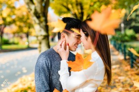Seattle, Washington fall engagement portrait session