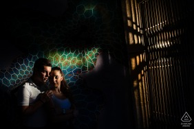 Sofia, Bulgaria	Creative hard light portrait for a young engaged couple