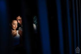 Sofia, BulgariaPortrait shoot through a grid for an engagement session