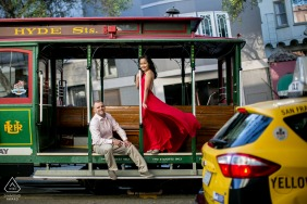 San Francisco, California Treat of a trolly portrait session