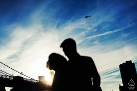dumbo new york Silhouette portraits of an