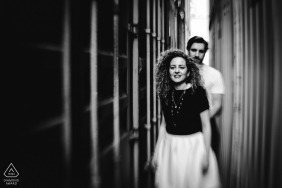 Germanycouple pre wedding portraits in Hafen Stuttgart