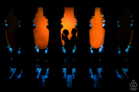Pre-Wedding silhouetted couple portrait in Ho Chi Minh City
