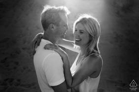 Perth engagement shoot in black and white - A nice minute together alone