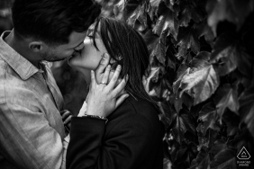 an engagement portrait session in Mirmande in the Drôme