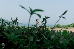 Da Nang city couple plan to hang on to that love from their beach engagement session of portraits