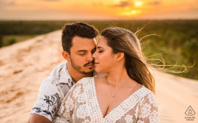 Piaçabuçu, Alagoas sunshine, light of love during a pre-wedding portrait session
