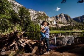 Yosemite National Park, Californiaengagement portraits outdoors - Water fall you