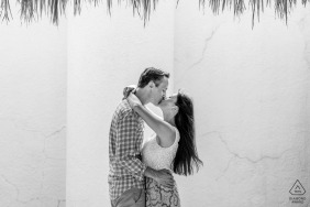 The Westin Resort & Spa, Puerto Vallarta, México couple enjoying themselves during their engagement portrait session