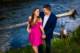 a CO engagement session at Eleven Mile Canyon in Lake George