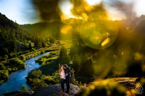 Eleven Mile Canyon in Lake George, Colorado engagement portrait session