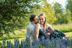 Châtenay Malabry Engagement portrait session before their wedding