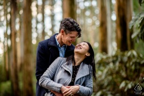 Dandenong pre wedding portraits for a couple in the woods of Victoria, Australia
