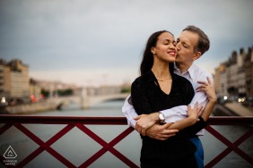 Love session with couple in Lyon, France