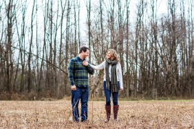Frenchtown, New Jersey Winter Engagement Session