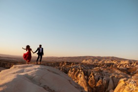 Pre-Wed Engagement Session on the hills of cappadocia, Turkey