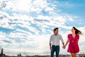 Venice, Italy engagement photo session with nothing but Smiles and blue sky