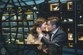 Taipei Pre-Wedding Portrait of a couple about to kiss