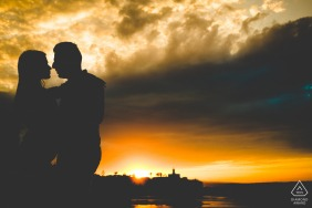Siracusa sunset love portrait session for a couple in sicily