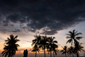 Vietnam Phu Quoc Island e-session for portraits at sunset under palm trees