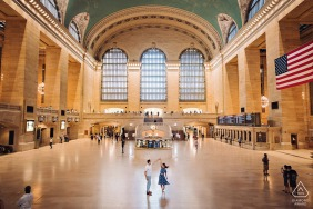 Grand central terminal NYC Dancing couple portrait session in the station