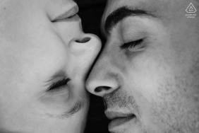 Yin and Yang close-up couple engagement photography at Oporto Streets