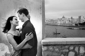 黑白夫婦訂婚在意大利特拉帕尼拍攝