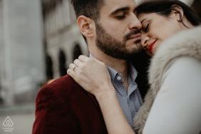 Place de la ville image d'engagement couple de la Place Saint Marc - Venise - Italie