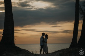 Silhouette, sea engagement photos at Phu Quoc Island
