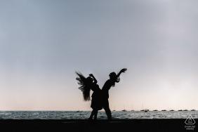波西塔諾夫婦肖像與頭髮在天上飛