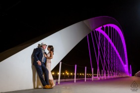 France pre wedding and engagement photography from the Bridge between France & Germany of a Franco-German couple