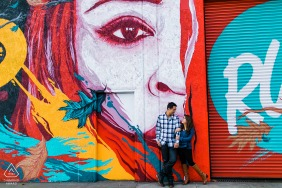 CA engagement photoshoot & pre-wedding session from Oakland, California with a Quick stop at Graffiti Alley