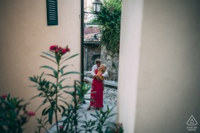 Slovenia engagement photo shoot from Volosko, Croatia in the Alley of Love