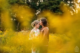 NJ engagement photo shoot in Frenchtown, New Jersey in autumn