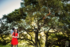California engagement photo shoot at Cupertino with A hug in the park