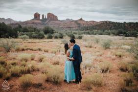 Arizona Valley of rain couple portraits during a pre-wed engagement session