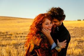 Jaén couple portrait in the fields of Spain