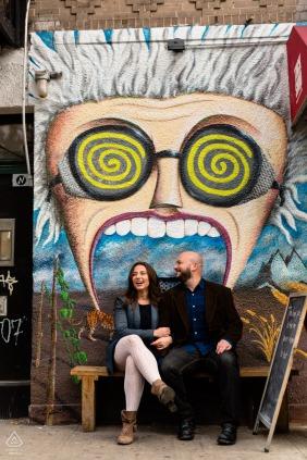 SoHo, New York City mural art couple portrait