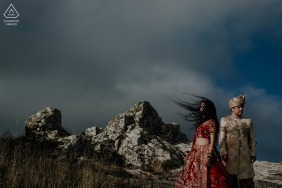 Sintra, Lisboa Indian couple portrait session as they enjoy the mystical spot