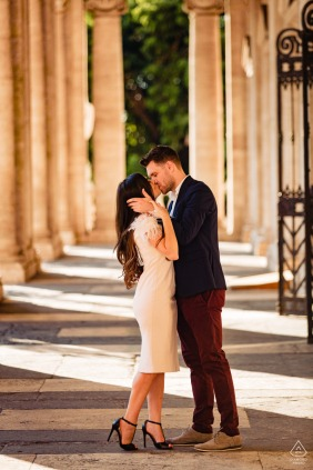 Rome pre-wed portrait at Capitolium with The couple and the architecture