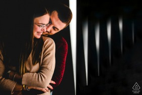 Siracusa couple engagement pic session showing the love between them