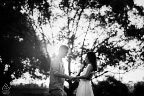 Perth Artful Engagement Picture of a young couple in BW Laughing together