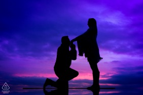 Neufchatea Fine Art Pre Wedding Portrait with some deep colors and Love at sunset