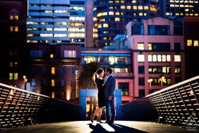 San Francisco Fine Art Engagement Photos with some Slow dancing by the pier in the evening