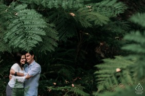 Sintra Pre Wedding Photoshoot w Fine Art Style showing the Couple enjoying and in connection with nature