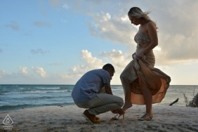 Ocean Paradise Resort portrait e-session at the beach at sunset