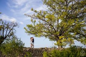 Ardèche, France on-location portrait e-shoot days before their wedding