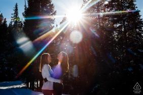 Breckenridge, CO on-location portrait e-shoot in the winter light